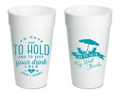 Personalized Wedding Cups from Sip Hip Hooray!  LET US CREATE YOUR CUSTOM DESIGN AT NO ADDITIONAL COST!!!  ANY DESTINATION!! ANY CUSTOMIZATIONS!!