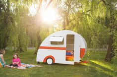 Oh so cool Caravan Cubbies, cubby house , play time, kids toys, outdoor toys, caravan cubby house