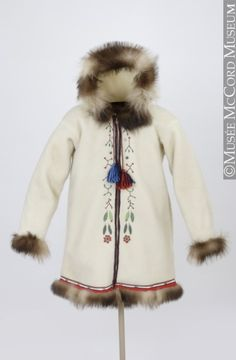 Inuit Jacket at the McCord Museum, Montreal Native Art, Native American Indians, Folk Costume, Costumes, Inuit People, Inuit Art, Thinking Day, First Nations, Ethnic Fashion