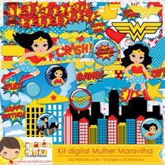 Kit digital Mulher Maravilha