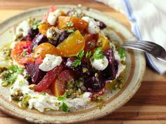 Roasted Beet and Citrus Salad With Ricotta and Pistachio Vinaigrette Recipe | Serious Eats
