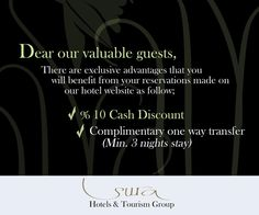We have an exclusive offer for you! Visit our website at surahotels.com #traveldeals #surahotels