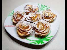 Roselline alle Mele by Cooking with Manuela Apple Recipes, Sweet Recipes, Cake Recipes, Rose Pasta, Great Desserts, Healthier Desserts, Italian Desserts, Baked Apples, Biscotti