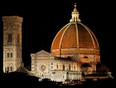 Florence Cathedral  The Duomo, as it is ordinarily called, was begun in 1296 in the Gothic style. Florence Dome, Florence Cathedral, Florence Italy, Florence Hotels, Voyage Florence, Italy Holidays, Travel Memories, Pisa, Oh The Places You'll Go