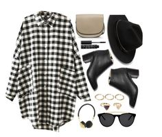 """""""Fall Trend: Plaid Shirts"""" by genuine-people ❤ liked on Polyvore featuring MANGO, Forever 21, Frends, NARS Cosmetics, Paul Andrew, Smoke & Mirrors, black, plaid, shirtdress and shirt"""
