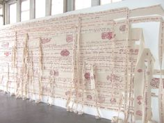 embroidery on cotton dimensions variable  ongoing presentations and installations since 2004
