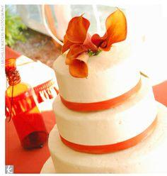 orange-and-white-wedding-cake