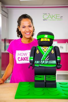 This was OFFICIALLY the hardest cake I've ever made on my YouTube channel!! Click to watch me cake LLOYD from the NEW LEGO NINJAGO MOVIE on my YouTube channel!