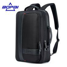 BOPAI obchodníky pánské batoh Black USB nabíjení Anti Theft Laptop Backpack 15.6 Inch Muž Velkokapacitní College školní aktovky (Čína)