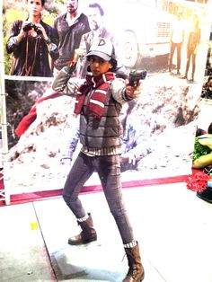 Action shot of my S3 Clementine's first appearance cosplay! Clementine cosplay