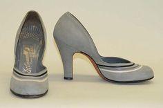 Designer: Delman (American, founded 1919) Date: 1945–55 Culture: American Medium: leatherPumps