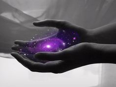 The universe in the palm of your hands - that is the beauty and gift of Reiki Healing Hands, Self Healing, Usui Reiki, Sup Yoga, All Things Purple, Isagenix, Natural Healing, Color Splash, Awakening