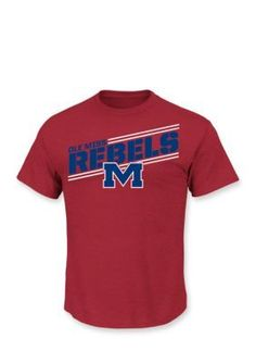 premium selection 748af 86360 Section 101 by Majestic Ole Miss Rebels Short Sleeve By The Numbers T Ole  Miss Rebels