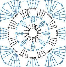 Granny Square pattern Aisla / 그래니 사각모티브 무료도안