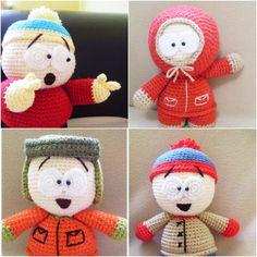 AMIGURUMI PATTERN  South Park Set by Ahmaymetshop on Etsy, $14.99
