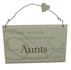 Best Aunt Plaque – Great Gift For A Special Aunt Birthday / Christmas Present - christmas presents Christmas Presents For Aunts, Christmas Gifts, Christmas Stuff, Christmas 2019, Aunt Birthday, Birthday Crafts, Birthday Ideas, Happy Birthday, Niece Quotes