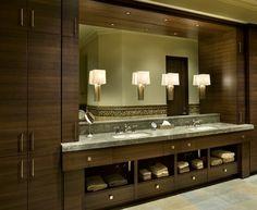 Contemporary Bathroom Vanity Design, Pictures, Remodel, Decor and Ideas - page 9 Vanity Design, Bath Design, Design Bathroom, Contemporary Bathroom Designs, Modern Bathroom, Modern Design, Contemporary Vanity, Smart Design, Bathroom Light Fixtures