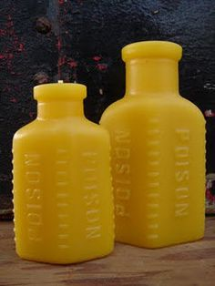 NEW  Antique BottleShaped Beeswax Candle  Sm and Lg  by pollenArts, $15.00