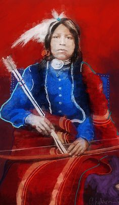 Apache hunter Portrait by Craig Nelson