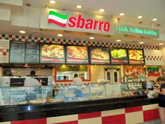 Sbarro. He goes here all the time for lunch, gift card might be nice