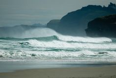 a windy day at the beach on the southern coast of the Otago Peninsula, at the southern tip of the South Island :) // near Dunedin, New Zealand // photo by Graeme Robertson