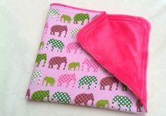 Minky Baby Girl Blanket Pink Minky  Urban Circus by DancingKat, $16.00