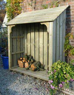 Exterior Remodeling , Outdoor Firewood Rack : Wooden Firewood Storage Rack
