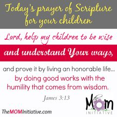 HELP for MOMS to PRAY SCRIPTURE for YOUR CHILDREN. Do you pray God's Word back to Him for your children?  Prayer. It's the most powerful thing you can do for your kids and when you pray Scripture, you are aligning your heart with God's heart for your children. The M.O.M. Initiative wants to help you discover the power of praying Scripture for your children …