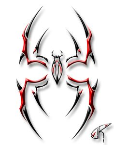Tribal spider. This would look good on the back of my neck!!