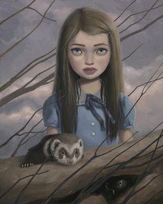 """""""Ferret & Owl"""" by Ana Bagayan."""