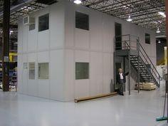 2-story prefabricated building from PortaFab http://www.portafab.com/modular-office-photo-gallery.html