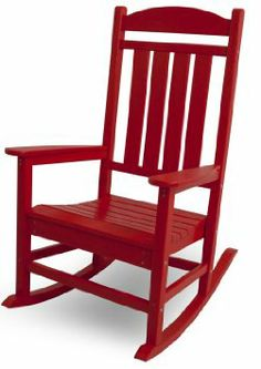 Amazon.com: POLYWOOD R100SR Presidential Rocker, Sunset Red: Patio, Lawn & Garden  #munire #pinparty #MadeintheUSA
