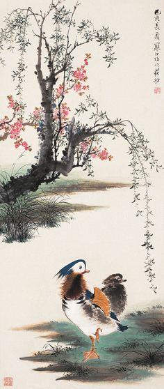 "Jiang Hanting(江寒汀) , ""花鸟四大名家""(亦称""四大名旦"")则是20世纪30年代上海画坛这片土壤里发芽开花的一朵奇葩。  ""四大名旦""是指江寒汀(1903-1963年)、张大壮(1903-1980年)、唐云(1910-1993年)、陆抑非(1908-1997年)。他们有着相同的兴趣和大致相同的艺术经历和绘画风格,又长期寓居上海卖画为生,故近代学者及绘画史研究者把他们称之为""四大名旦""。"