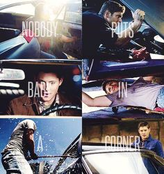 Dean and the Impala. His baby.