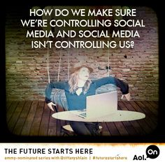 How do we make sure we're controlling social media, and social media isn't controlling us? buff.ly/1EEwO4T