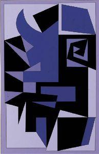 Santorin - (Victor Vasarely)
