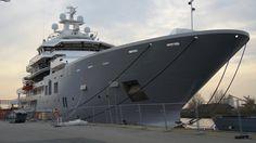Uncovered Mega Explorer Yacht ULYSSES close lineup - YouTube