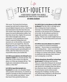 Text-iquette - survey of mobile manners