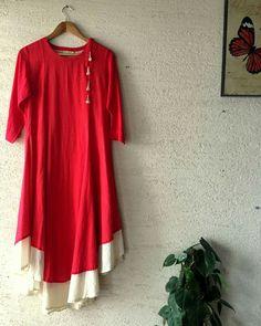 India Fashion, Pink Fashion, Asian Fashion, Kurti Patterns, Dress Patterns, Kurta Designs, Blouse Designs, Indian Dresses, Indian Outfits