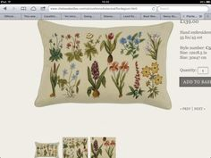 Love this cushion,the botanical embroidery is great.