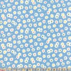 Moda  Fresh Air Floral Spiky Flower Light Blue