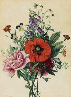 Jean-Louis Prevost Bouquet of Flowers 1810