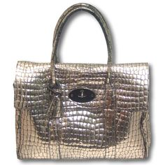Mulberry Crocodile Pewter Bayswater  Perfect for AW12 Metallic Trend