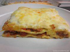 Lasaña con Thermomix - La Alacena de MO Bechamel, Lasagna, Food And Drink, Cooking, Ethnic Recipes, 3, Memes, Microwaves, Shopping