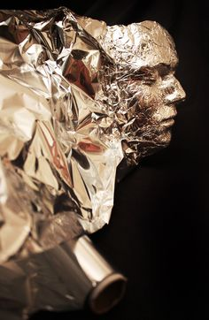 Dominic Wilcox - tin foil bust.     (I think the kids would hate me if I proposed this idea for a project, but I like it)