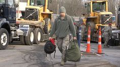 Local National Guardsmen from Fort Indiantown Gap head to Connecticut to help with Nemo relief efforts.