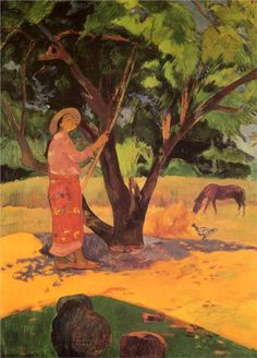 Gauguin. The lemon picker, 1891.  www.artexperiencenyc.com