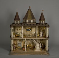 late 19th- and early-20th century dollhouses from the National Museum of Play's collections, picture Megan Charland