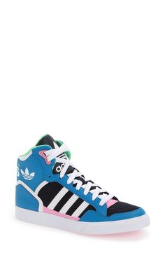 sports shoes 5c5d1 50b1d Nordstrom adidas Extraball High Top Sneaker (Women) Review Nordstrom Shoes,  Shoe Wall,