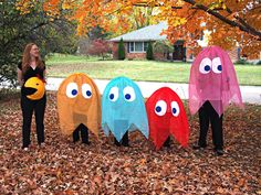 Pacman family Halloween costumes